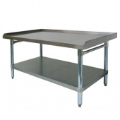 "GSW - Equipment Stand, 30.5x60.5x24 All Galvanized with 1"" Upturn on 3 Sides"