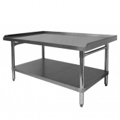 "GSW - Equipment Stand, Premium 30.5x24.5x24 Stainless Steel with 1"" Upturn on 3 Sides"