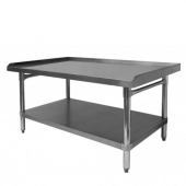 "GSW - Equipment Stand, Premium 30.5x48.5x24 Stainless Steel with 1"" Upturn on 3 Sides"