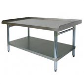 "GSW - Equipment Stand, 30x36 Stainless Steel Top, Galvanized Undershelf and Legs with 1"" Upturn on 3"