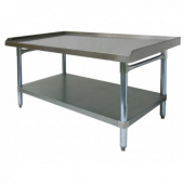 "GSW - Equipment Stand, 30x72 Stainless Steel Top, Galvanized Undershelf and Legs with 1"" Upturn on 3"