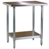 Blue Air - Work Table with Rounded Edges, 24x48x34 Stainless Steel