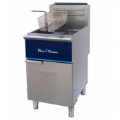 Blue Flame - Fryer, Solid State Control, 37.4x24.4x33.5, 30,000 BTU 5 Heat Tubes, 75-80 Lb Oil Capac