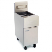 Frymaster - Standard Gas Fryer, 50 Lb Oil Capacity with 2 Twin Baskets, Stainless Steel Frypot, Door