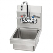"Krowne Metal - Hand Sink, 9"" Space Saver Wall Mount Stainless Steel, 9x13x12 with 5"" Deep Bowl"