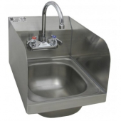 "GSW - Hand Sink, Space Saver Wall Mount 17.875x12.5x13.375 with 7.75"" Deep Bowl with Welded Splash G"