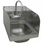 "GSW - Hand Sink, Standard Wall Mount 15.25x15.75x14.375 with 6.625"" Deep Bowl with Welded Splash Gua"
