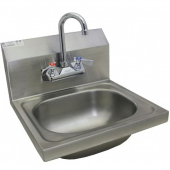 "GSW - Hand Sink, Ultra Space Saver Wall Mount 12x12.25 with no Lead Faucet and Strainer, 7.75"" Backs"