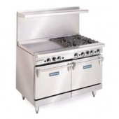 "Imperial - Range with 6 Burners and 12"" Griddle, 48x32.5x56.5, 260,000 Total BTU"
