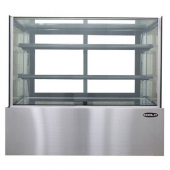 Kool-It - Bakery Display Case, Tempered Glass Sides and Rear Removable Sliding Glass Doors, 2 Adjust