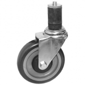 "GSW - Caster with Rubber Stem, 5"" Wheel"