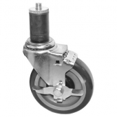 "GSW - Caster with Rubber Stem and Side Brake, 5"" Wheel"