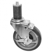 "GSW - Caster with Rubber Stem and Side Brake, 6"" Wheel"
