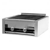 "Connerton - Gas Charbroiler, Countertop, 24"" with Lava Rock and Cast Iron Top and Bottom Grates, Man"