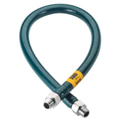"Krowne Metal - Gas Connector Hose, .75""x48"" Stainless Steel with Green PVC Coating"