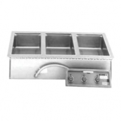 Wells - Food Warmer, Stainless Steel, Top-Mount, Drop-In, Electric, 3 12x20 Compartments