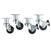 "Pitco - Fryer Casters, 3"" Swivel and 6"" Height Increase with 2 Locking and 2 Non-Locking"