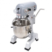 Adcraft - Commercial Planetary Mixer, 20 Quart with 3 Speeds, with Stainless Steel Safety Guard, Wir