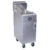 Royal Range - Deep Fat Fryer, Energy Efficient 35 Lb Stainless Steel, Single Fry Pot with 2 Baskets