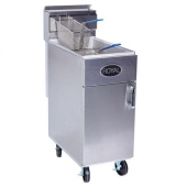 Royal Range - Deep Fat Fryer, 50 Lb Stainless Steel, Single Fry Pot with 2 Baskets (Casters not Incl