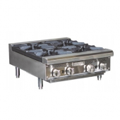 Royal Range - Hotplate with 4 Gas Burners and 12x12 Cast Iron Grates, 24x30.5 Stainless Steel, Count