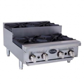 Royal Range - Step-Up Hotplate with 4 Gas Burners and 12x12 Cast Iron Grates, 18x24x30.5 Stainless S