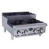 Royal Range - Step-Up Hotplate with 6 Gas Burners and 12x12 Cast Iron Grates, 18x36x30.5 Stainless S