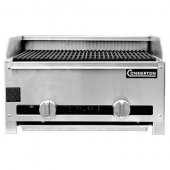 "Connerton - Gas Charbroiler, Countertop, 17"" with Stainless Steel Radiants and Cast Iron Top Grates,"
