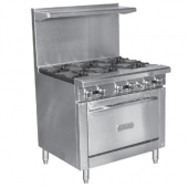 Royal Range - Gas Range with Convection Oven, Stainless Steel, 6 Open Burners