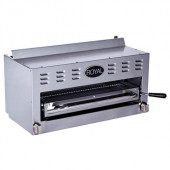 "Royal Range - Salamander Broiler, 36"" with 2 Burners, Stainless Steel Front and Sides, 17.75"" Depth,"