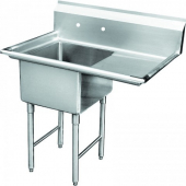 GSW - Sink with 1 Compartment and Right Drain Board, Bowl Size 18x18x12 Stainless Steel