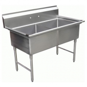 GSW - Sink with 2 Compartments and No Drain Board, Bowl Size 18x18x12 Stainless Steel