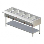 "Stratus - Steam Table, 60"" Stainless Steel with 5 Wells"