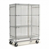 Nexel - Security Unit, Heavy Duty 48x24x70 with Poly-Z-Brite Clear Epoxy Over Zinc Plate, 1400 Lb Ca