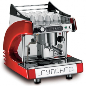Rosito Bisani - Synchro One Group Espresso Machine, Semi-Automatic, Available Colors: Black, Red, Ch