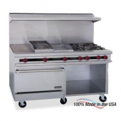 "Therma-Tek - Gas Range with 24"" Griddle, 6 Open Burners and 2 Ovens, 57.5x60x33"
