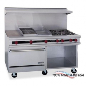 "Therma-Tek - Gas Range with 24"" Griddle, 4 Open Burners, 26"" Convection Oven and 12"" Storage Base, 5"