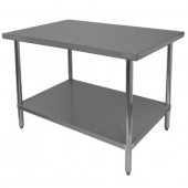 GSW - Work Table, Commerical 24x36x35 Stainless Steel Top with Galvanized Undershelf