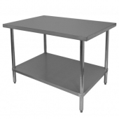 GSW - Work Table, Commerical 30x24x35 Stainless Steel Top with Galvanized Undershelf