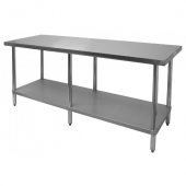 GSW - Work Table, Commerical 30x72x35 Stainless Steel Top with Galvanized Undershelf