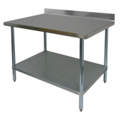"GSW - Work Table, 30x72x35 Stainless Steel with 4"" Rear Upturn"