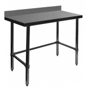 "GSW - Work Table, 30x72x35 Stainless Steel with 4"" Rear Upturn and Open Base"