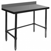 "GSW - Work Table, 30x48x35 Stainless Steel with 4"" Rear Upturn and Open Base"