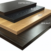 Amko - Laminated Table Top, 24x30 Black Finish