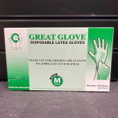 A - Gloves Latex Medium, 100 count (LIMIT 50)