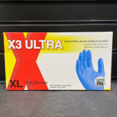 A - Gloves Nitrile Blue Extra Large, 100 count (LIMIT 10)