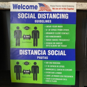 A - Social Distancing Window Sign, 16.5x21