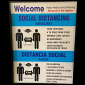A - Social Distancing Window Sign, 10x14