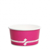 Karat - Hot/Cold Paper Food Container, 6 oz Pink