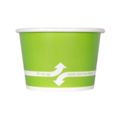 Karat - Hot/Cold Paper Food Container, 8 oz Green